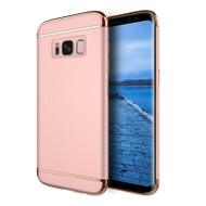 *SALE* GripTech 3-Piece Chrome Frame Case for Samsung Galaxy S8 - Rose Gold