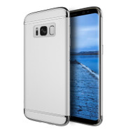 GripTech 3-Piece Chrome Frame Case for Samsung Galaxy S8 - Silver