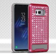 Luxury Bling Diamond Hybrid Case for Samsung Galaxy S8 Plus - Hot Pink