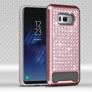 Luxury Bling Diamond Hybrid Case for Samsung Galaxy S8 Plus - Rose Gold
