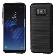 Brushed Multi-Layer Hybrid Armor Case for Samsung Galaxy S8 Plus - Black