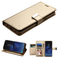 Essential Leather Wallet Stand Case for Samsung Galaxy S8 Plus - Gold