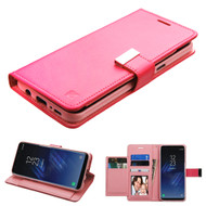 Essential Leather Wallet Stand Case for Samsung Galaxy S8 Plus - Hot Pink