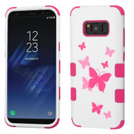 Military Grade Certified TUFF Image Hybrid Armor Case for Samsung Galaxy S8 Plus - Butterfly Dancing