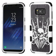 Military Grade Certified TUFF Image Hybrid Armor Case for Samsung Galaxy S8 Plus - Sword and Skull