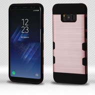 Military Grade Certified TUFF Trooper Dual Layer Hybrid Armor Case for Samsung Galaxy S8 Plus - Rose Gold