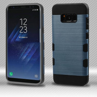 Military Grade Certified TUFF Trooper Dual Layer Hybrid Armor Case for Samsung Galaxy S8 - Slate Blue