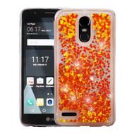 Quicksand Glitter Transparent Case for LG Stylo 3 / Stylo 3 Plus - Orange