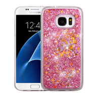 Quicksand Glitter Transparent Case for Samsung Galaxy S7 - Pink