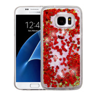 Quicksand Glitter Transparent Case for Samsung Galaxy S7 - Red