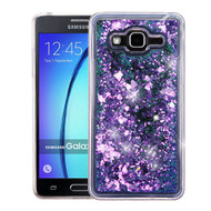 Quicksand Glitter Transparent Case for Samsung Galaxy On5 - Purple