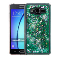 Quicksand Glitter Transparent Case for Samsung Galaxy On5 - Teal Green
