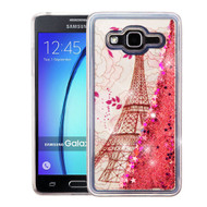 Quicksand Glitter Transparent Case for Samsung Galaxy On5 - Eiffel Tower