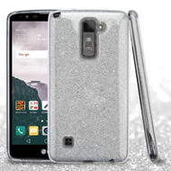 *Sale* Full Glitter Hybrid Protective Case for LG Stylo 2 Plus - Silver