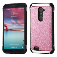 Tough Hybrid Case with Glitter Backing for ZTE Zmax Pro - Pink
