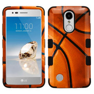 Military Grade TUFF Image Hybrid Armor Case for LG Aristo - Basketball