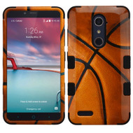 Military Grade TUFF Image Hybrid Armor Case for ZTE Zmax Pro / Grand X Max 2 / Imperial Max / Max Duo 4G - Basketball