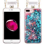 Perfume Bottle Quicksand Glitter Case for iPhone 8 Plus / 7 Plus - Blue