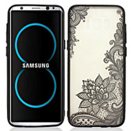Silk Print Transparent Case for Samsung Galaxy S8 - Paisley
