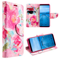 Designer Graphic Leather Wallet Stand Case for Samsung Galaxy S8 - Watercolor Floral