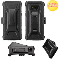 Tough Armor Hybrid Kickstand Case with Holster for Samsung Galaxy S8 Plus - Black
