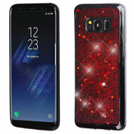 Luxury Bling Glitter Krystal Gel Case for Samsung Galaxy S8 Plus - Starry Sky Red