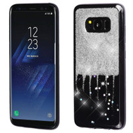 Luxury Bling Glitter Krystal Gel Case for Samsung Galaxy S8 Plus - Dripping Silver