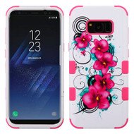 Military Grade Certified TUFF Image Hybrid Armor Case for Samsung Galaxy S8 Plus - Morning Petunias