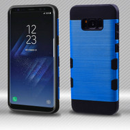 Military Grade Certified TUFF Trooper Dual Layer Hybrid Armor Case for Samsung Galaxy S8 Plus - Blue