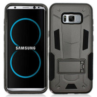 Transformer Hybrid Armor Case with Stand for Samsung Galaxy S8 - Black