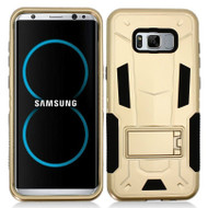 *Sale* Transformer Hybrid Armor Case with Stand for Samsung Galaxy S8 - Gold