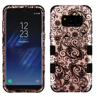 Military Grade Certified TUFF Image Hybrid Armor Case for Samsung Galaxy S8 - Leaf Clover Rose Gold