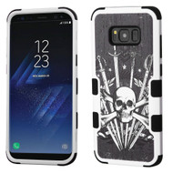 Military Grade Certified TUFF Image Hybrid Armor Case for Samsung Galaxy S8 - Sword and Skull