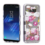 TUFF Panoview Transparent Hybrid Diamond Case for Samsung Galaxy S8 - Roses