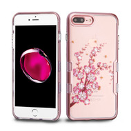 TUFF Panoview Transparent Hybrid Diamond Case for iPhone 8 Plus / 7 Plus - Spring Flowers