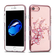 TUFF Panoview Transparent Hybrid Diamond Case for iPhone 8 / 7 - Spring Flowers