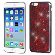 Luxury Bling Glitter Krystal Gel Case for iPhone 6 / 6S - Starry Sky Red