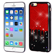 Luxury Bling Glitter Krystal Gel Case for iPhone 6 / 6S - Dripping Red