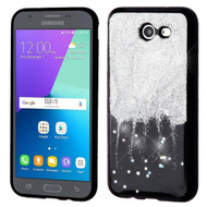 Luxury Glitter Case for Samsung Galaxy J3 (2017) / J3 Emerge / J3 Prime / Amp Prime 2 / Sol 2 - Dripping Silver