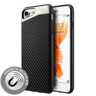 Carbon Metallic Luxury Fusion Case with Magnetic Back Plate for iPhone 8 / 7 - Black