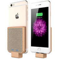 Back Clip Power Bank 2200mAh Battery for iPhone with Lightning Connector - Gold