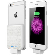 Back Clip Power Bank 2200mAh Battery for iPhone with Lightning Connector - White