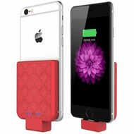 Back Clip Power Bank 2200mAh Battery for iPhone with Lightning Connector - Red