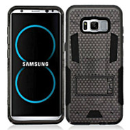 Transformer Hybrid Armor Case with Stand for Samsung Galaxy S8 - Carbon Fiber