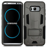 *SALE* Transformer Hybrid Armor Case with Stand for Samsung Galaxy S8 Plus - Black