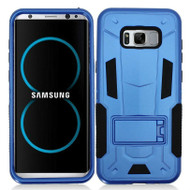 Transformer Hybrid Armor Case with Stand for Samsung Galaxy S8 Plus - Blue