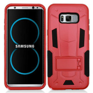 Transformer Hybrid Armor Case with Stand for Samsung Galaxy S8 Plus - Red