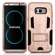 *Sale* Transformer Hybrid Armor Case with Stand for Samsung Galaxy S8 Plus - Rose Gold