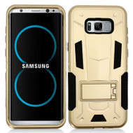 *Sale* Transformer Hybrid Armor Case with Stand for Samsung Galaxy S8 Plus - Gold