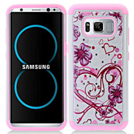 *Sale* TotalDefense Diamond Hybrid Armor Case for Samsung Galaxy S8 Plus - Hearts